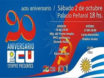 90 ANIVERSARIO DEL PCU.