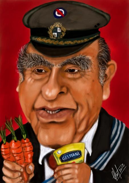 Resultado de imagen para caricatura de sanguinetti